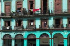 Apartamentos de Havana, Cuba Imagem de Stock Royalty Free