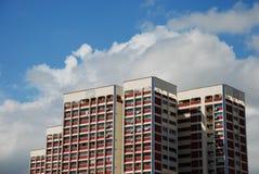 apartamentos de la cubierta de Singapur Imagen de archivo libre de regalías
