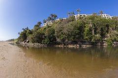 Apartamentos de la laguna de la playa Imagen de archivo