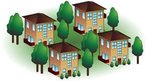 Apartamentos de la vecindad stock de ilustración