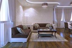 Apartamentos de Spacy en estilo moderno Imagen de archivo libre de regalías
