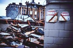 Apartamentos del abandono Foto de archivo libre de regalías