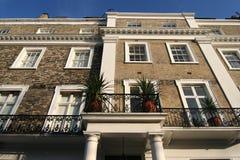 Apartamentos del lujo de Londres imagen de archivo