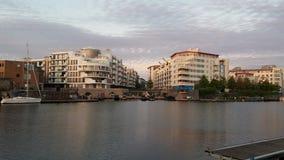 Apartamentos do Dockside Fotografia de Stock Royalty Free