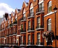 Apartamentos do inglês do estilo velho Foto de Stock