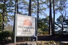Apartamentos do lago sycamore, Memphis, TN Fotos de Stock