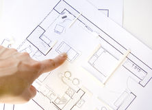 Apartamentos do projeto interior - vista superior Fotografia de Stock Royalty Free