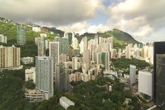Apartamentos em prédio alto de Hong Kong Fotos de Stock