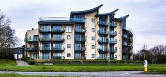Apartamentos en el camino de Marlborough en Swindon imagen de archivo