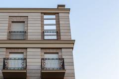 Apartamentos en el centro de ciudad fotografía de archivo libre de regalías