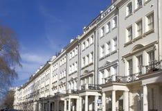 Apartamentos en Knightsbridge y Chelsea Imágenes de archivo libres de regalías