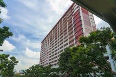 Apartamentos en rojo fotos de archivo