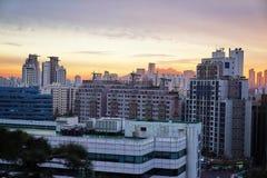 Apartamentos en Seúl, Corea del Sur foto de archivo