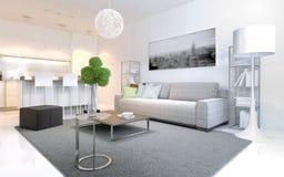 Apartamentos escandinavos del estilo Foto de archivo