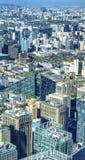 Apartamentos Guama das torres do escritório da arquitetura da cidade de Chaoyang da pirâmide de Guomao Fotografia de Stock