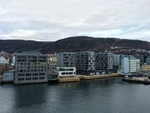 Apartamentos modernos, Bergen, Noruega Imagem de Stock Royalty Free