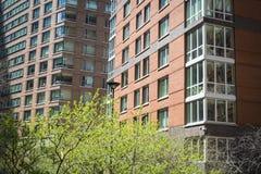 Apartamentos modernos com ajardinar natural Fotos de Stock