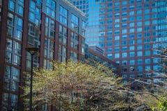 Apartamentos modernos com ajardinar natural Foto de Stock