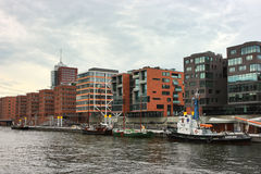 Apartamentos modernos de HafenCity Foto de archivo