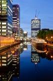 Apartamentos modernos en Canary Wharf Foto de archivo libre de regalías