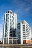 Apartamentos modernos en Liverpool imagen de archivo
