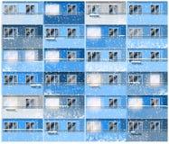 Apartamentos na noite do inverno Imagem de Stock