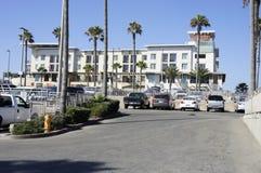 Apartamentos na praia Fotografia de Stock Royalty Free