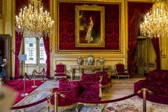 Apartamentos Napoleon III en el Louvre Fotos de archivo