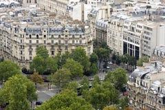 Apartamentos no centro de cidade de Paris Imagem de Stock
