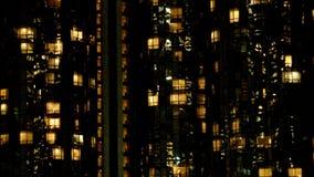 Apartamentos ocupados del hotel en la noche en Los Ángeles almacen de video