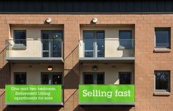 Apartamentos para a venda Foto de Stock Royalty Free