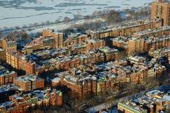 Apartamentos traseiros da baía em Boston, EUA Foto de Stock Royalty Free