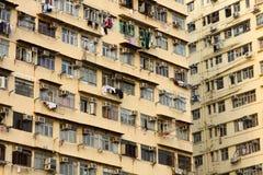 Apartamentos viejos en Hong-Kong fotos de archivo libres de regalías