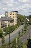 Apartamentos, Woking, Surrey em Inglaterra Fotografia de Stock