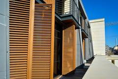 Apartamentos y detalles de vivienda modernos foto de archivo