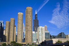 Apartaments em Chicago foto de stock royalty free
