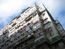apartementbyggnad Hong Kong Arkivbilder