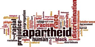 Apartheid word cloud stock illustration