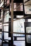 Apartheids-Museumsausstellung nahe bei rhe Eingang Lizenzfreie Stockbilder