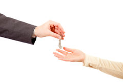 Apartmen klucze w mężczyzna rękach Zdjęcie Stock
