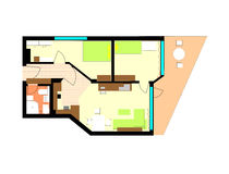 apartmenr εσωτερικός σύγχρονο&sigmaf Στοκ Εικόνα