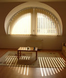 Apartment 10. Living room in sunlight, with a semi-circular window Royalty Free Stock Photography
