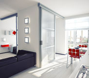 Apartment. Modern style apartment concept.  illustration Royalty Free Stock Photo