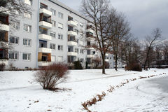 Apartment. Residential area in winter Stock Photos