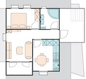 Apartment architecture plan Stock Images