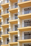 Apartment balconies Stock Photo