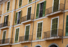 Apartment balconies Royalty Free Stock Images