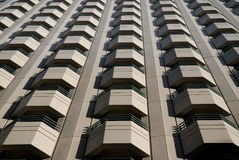 Apartment balconies on building Royalty Free Stock Photos