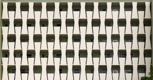 Apartment Balconies Pattern Royalty Free Stock Photo