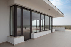 Apartment balcony. Of a modern building Stock Photography